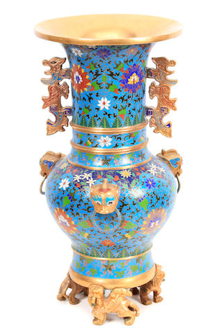 A 20th century Chinese cloisonne vase