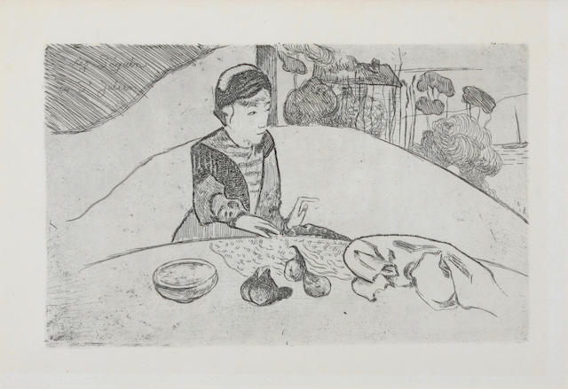 After Gauguin by Armin Seguin, Woman at table