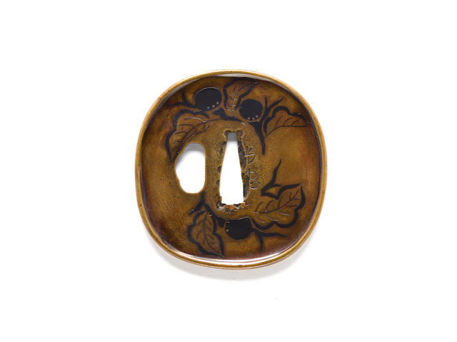 An important Umetada school sentoku tsuba By Umetada Mitsutada, early 17th century