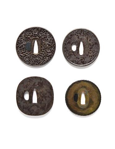 Four Nanban-style tsuba 18th-19th century