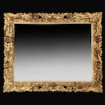 A fine Italian Baroque style giltwood mirror, if 19th century