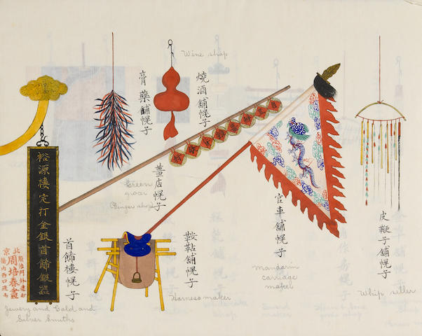 Zhou Peichun (early 20th century) Album of Beijing shop signs