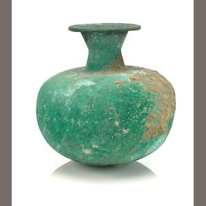A bronze ritual water pot (lota) Gandhara or India, 1st millenium A.D.