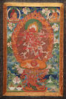 A thangka of Kurukulla,  Central Tibet, Late 17th/Early 18th century