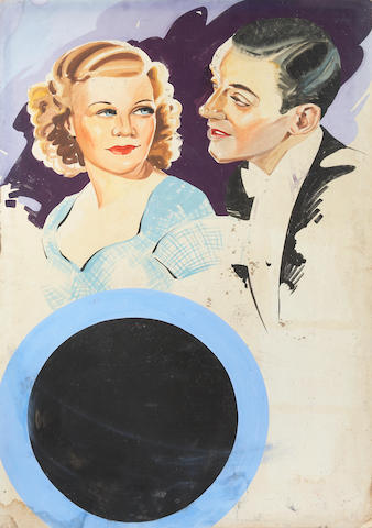 Fred Astaire and Ginger Rogers, Top Hat, RKO, 1935/Edward Everett Horton, Gay Divorcee (together)