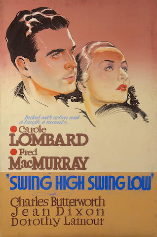 An original promotional painting for Swing High, Swing Low