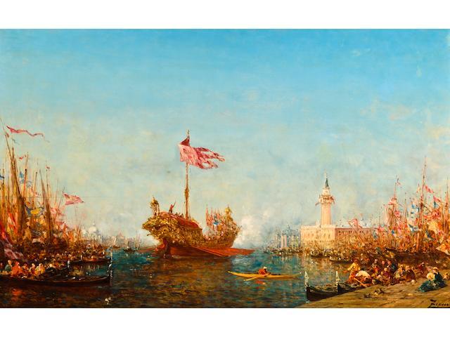 Félix François Georges Philibert Ziem (French, 1821-1911) Le Bucentaure, Venise 25 3/4 x 42 1/8in (65 x 107cm)