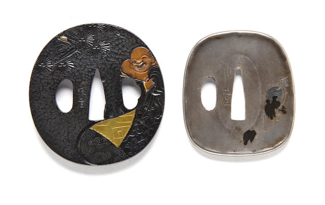 Two kinko tsuba The first after Issando Joi; the second by Mitsuhiro, 19th -late 19th century