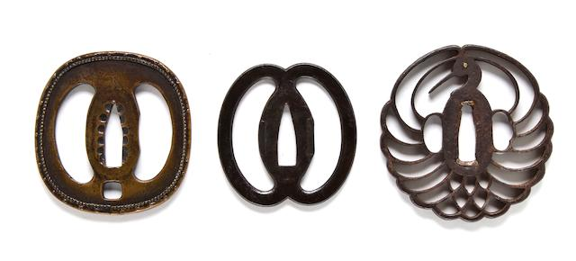 Three Higo tsuba 17th-19th century