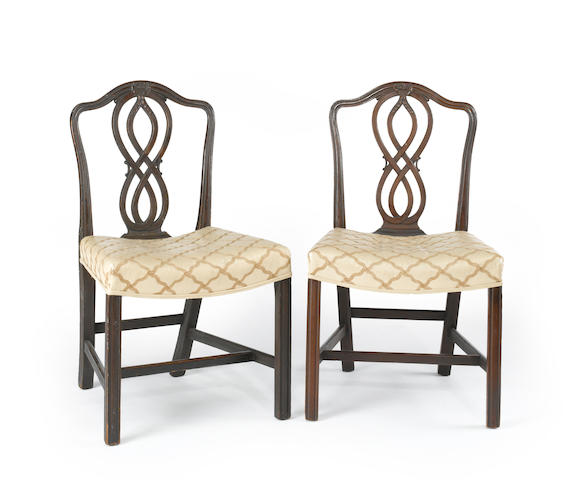 A set of ten George III style mahogany dining chairs<BR />18th, 19th centuries and later