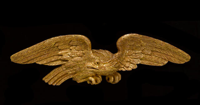 A George III giltwood eagle<BR />third quarter 18th century