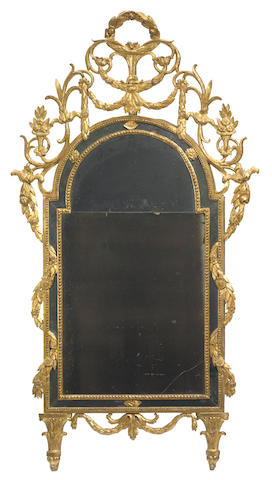 A good Italian Neoclassical giltwood mirror fourth quarter 18th century