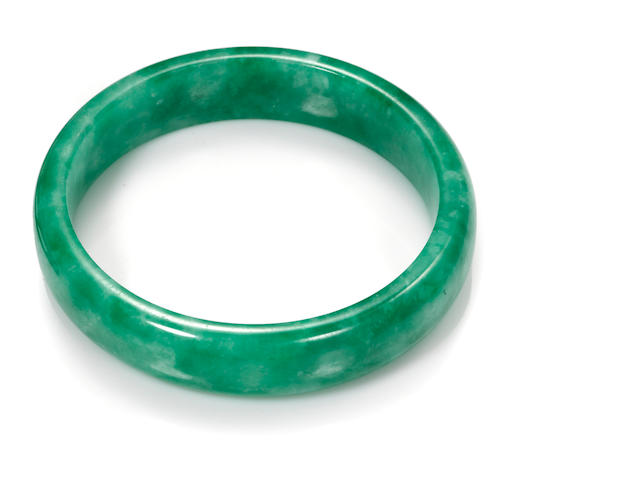 A jadeite jade large bangle bracelet