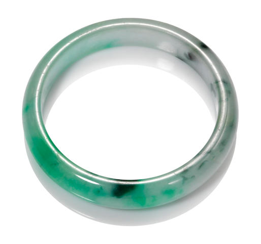 A jadeite jade bangle bracelet