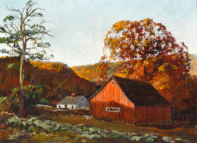 Eric Sloane (American, 1905-1985) Connecticut Autumn 20 x 27in