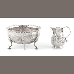 An Irish George III  sterling silver  sugar bowl  Matthew West, Dublin,  late 18th century (date letter rubbed)