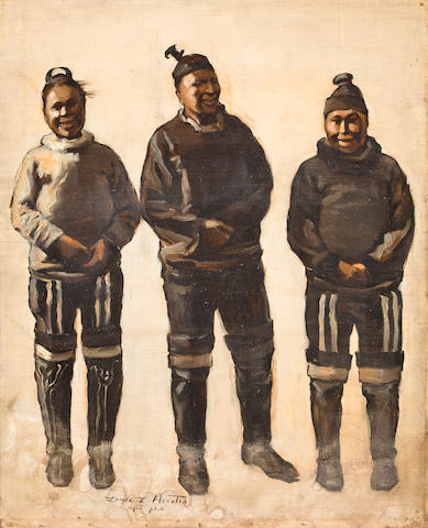 "INUITS  HEUSTIS (LOUISE LYONS) ""Danish-Esquimaux Women"" and ""Group of Arctic Highlanders"","