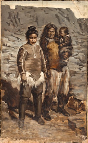 "INUITS HEUSTIS (LOUISE LYONS) ""Esquimaux Family""; ""Villagers""; and ""Native Hunters"","