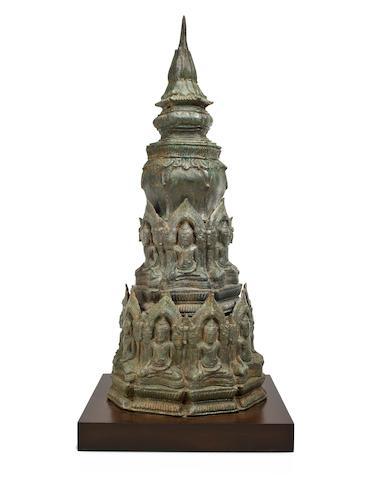 A bronze cheddhi Thailand, Lopburi, 13th Century