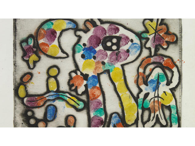 Joan Miró (Spanish, 1893-1983); One Plate, from The Prints of Joan Miró;