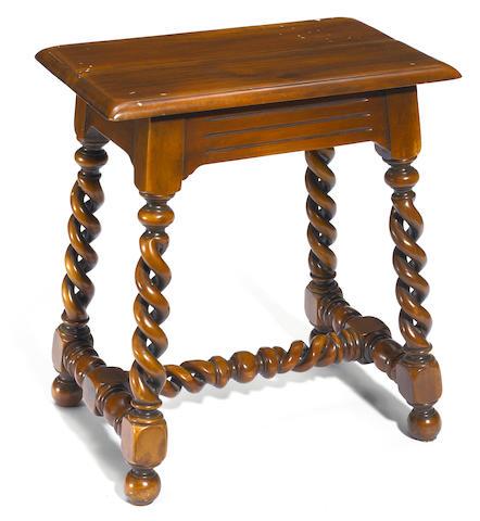 A Baroque style mahogany stool
