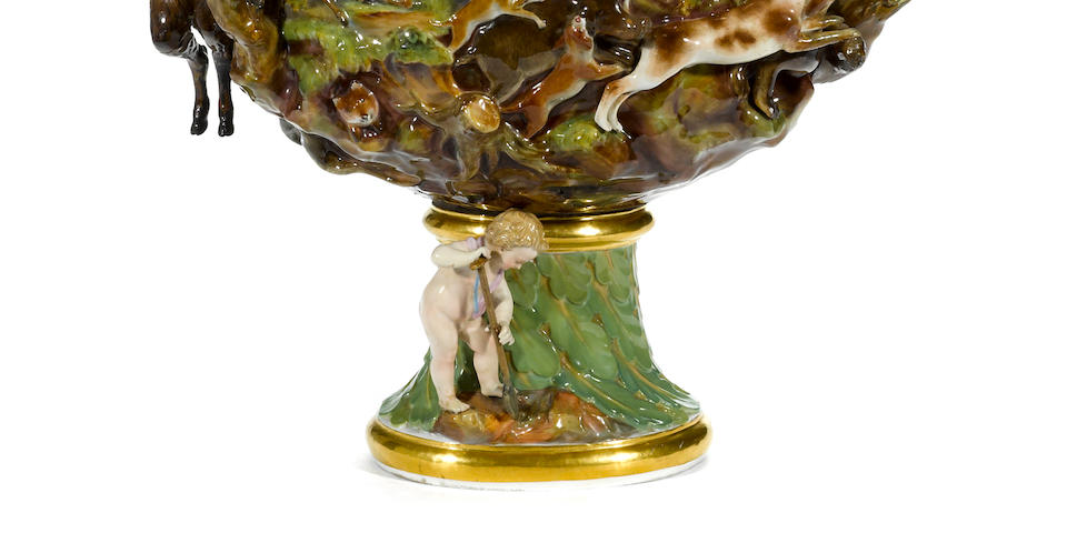 A large Meissen porcelain ewer emblematic of Earth <BR />after the model by Johann Joachim Kändler (1706-1775) <BR />late 19th century