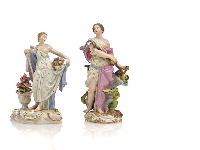 Two Meissen figures, Jeffrey Saks collect. prov