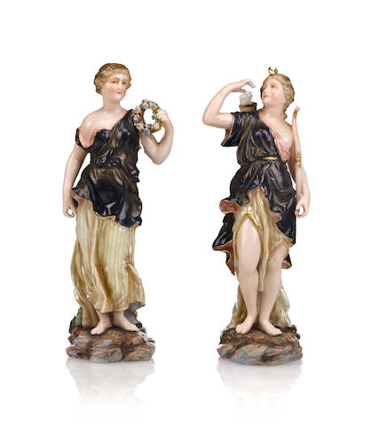 Two Meissen porcelain figurines