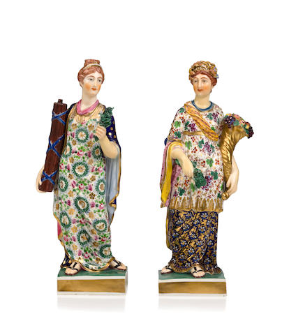 Two Bloor Derby Porcelain Figurines