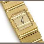 An 18k gold bracelet wristwatch, Piaget