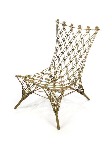 A Marcel Wanders carbon and aramid fibre and epoxy resin Knotted chair produced by Cappellini, designed 1969