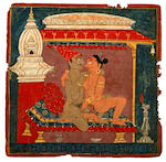 Two Nepalese erotic studies Bhaktapur, circa 1700