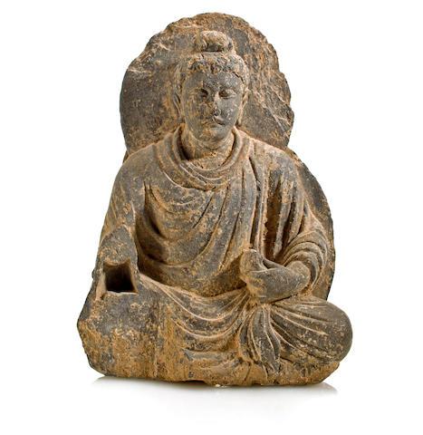 A gray schist figure of Buddha Gandhara, 2nd/3rd century