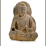 A gray schist figure of Buddha Gandhara, 2nd/3rd century