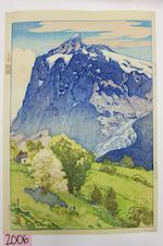 Yoshida Hiroshi (1876-1950)<BR />Wetterhorn