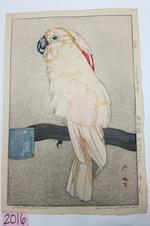 Yoshida Hiroshi (1876-1950)<BR />Obatan Parrot