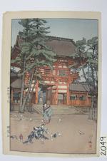 Yoshida Hiroshi (1876-1950)<BR />Four woodcuts