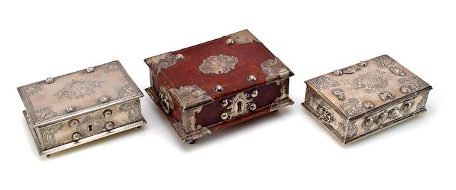 Two silver pan boxes Dutch Colonial, Sri Lanka or Java, 19th century
