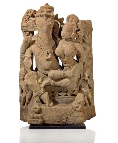 Ganesha and his consort North India, Madhya Pradesh or Rajaasthan, 11th century