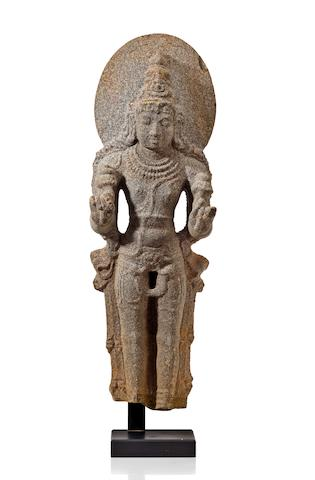 A granite figure of Surya,  Tamil Nadu, 12th/13th century