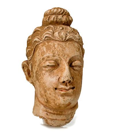 A stucco head of Buddha Gandhara, 4th/5th century