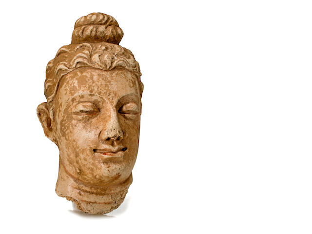 A stucco head of Buddha Gandhara, 4th/5th century