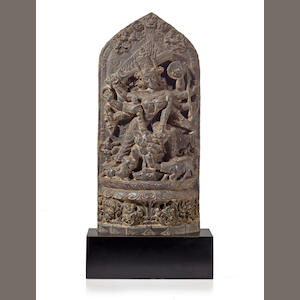 A black stone Durga Mahishasuramardini Northeast India, 12th century