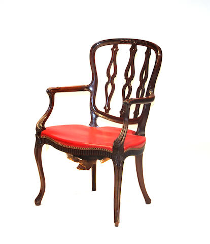 A George III style mahogany armchair late 19th century
