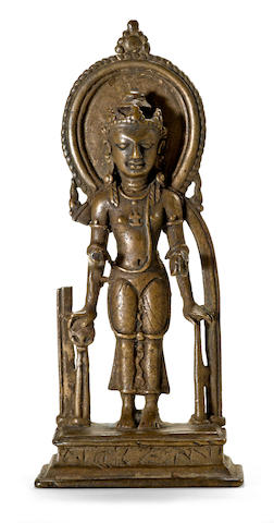 A bronze figure of Vishnu Sylhet region, Bangladesh, circa 8th century