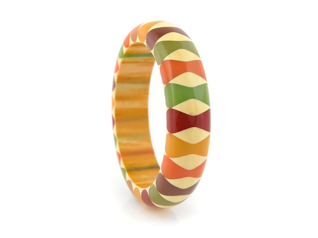"A Bakelite ""bowtie"" bangle"