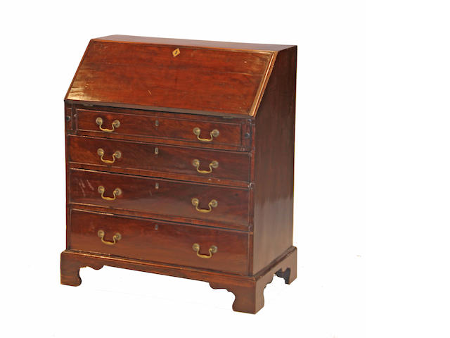 A George III mahogany slant front desk late 18th century