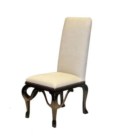 A set of five Michael Taylor Designs Baroque style side chairs