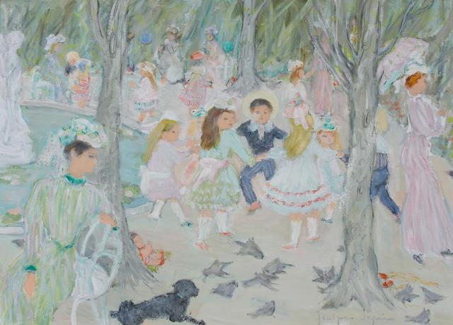Jocelyne Seguin (French, 1917-1999) Au parc Monceau 24 x 32in