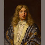 French School, 18th Century A portrait of a gentleman, half-length  27 3/4 x 22 1/2in (70.5 x 57.2cm)